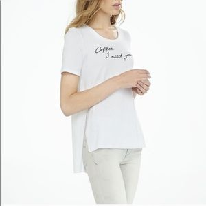 Express Coffee I Need You Legging Tee XS NWT